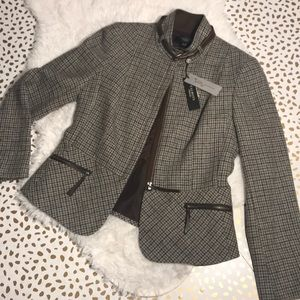 Talbots Kate Fit Houndstooth Riding Jacket NWT